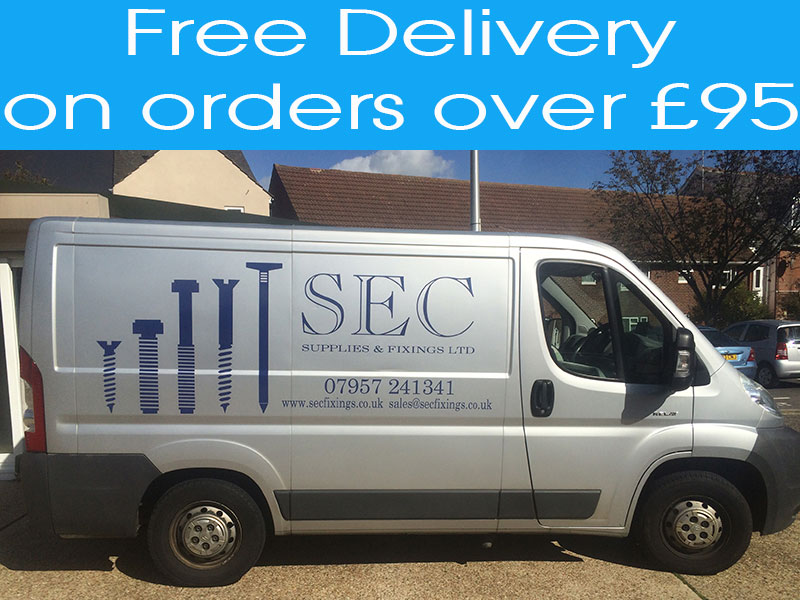 Free delivery on orders over £95 at SEC Fixings