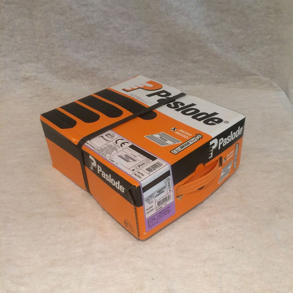 1 BOX ORIGINAL PASLODE IM350 3.1//75 RING GALV NAILS 2200 WITHOUT CELLS